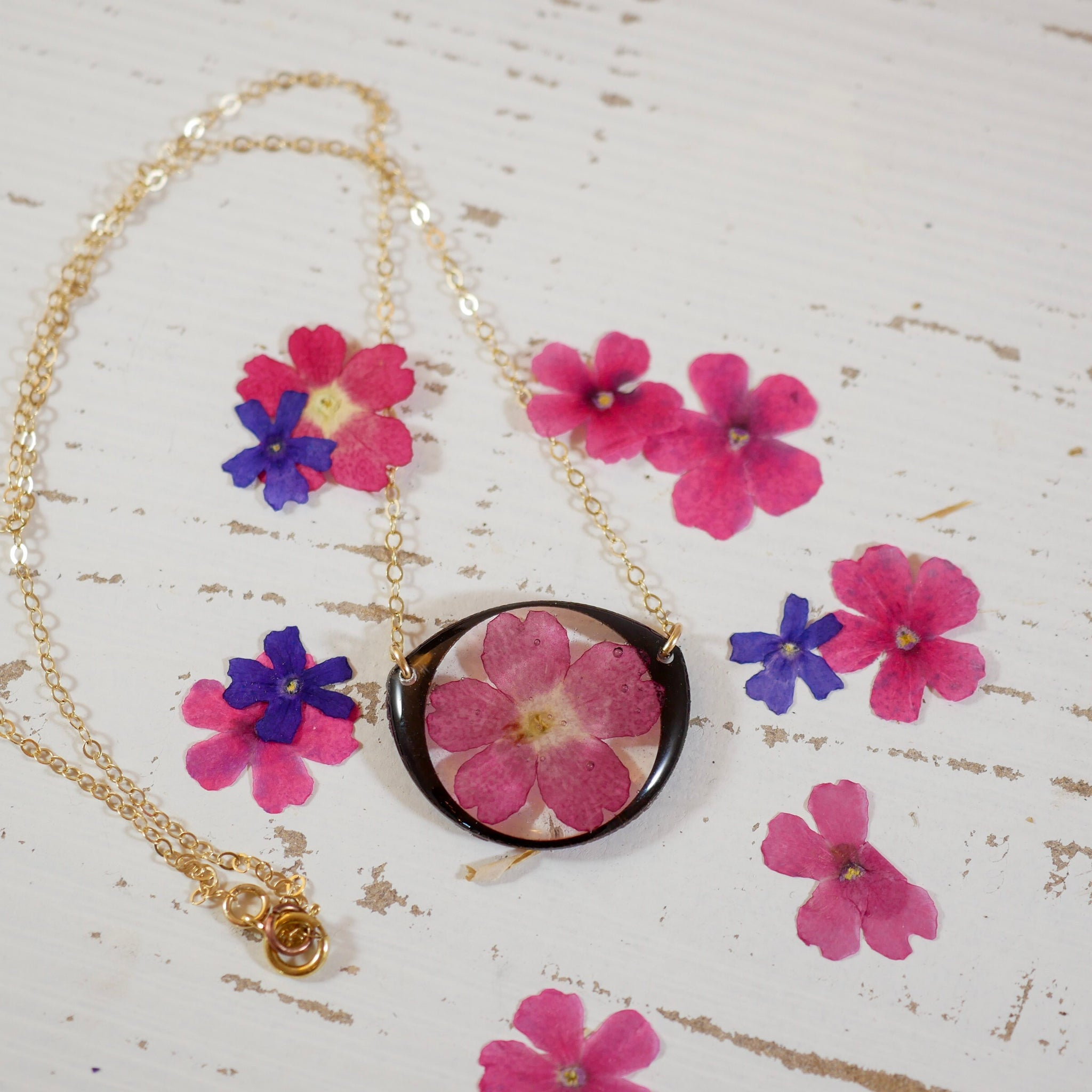 Pink Verbena Necklace