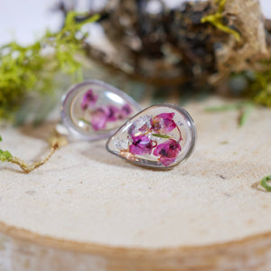 Heather Teardrop Studs