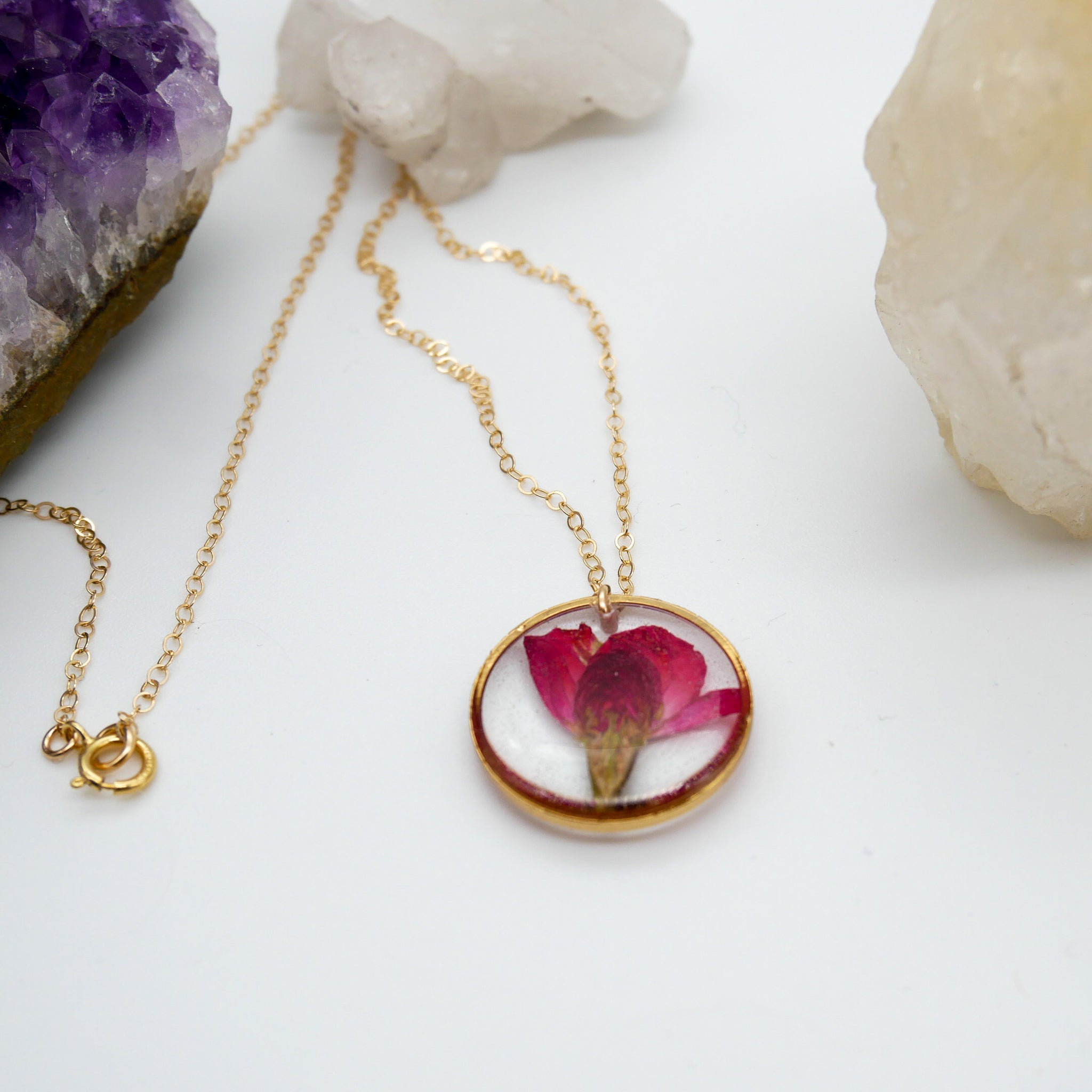 Dainty Rose Charm Necklace