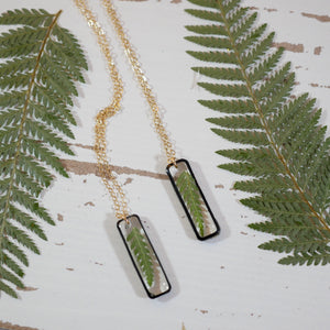 Vertical Bar Fern Necklace