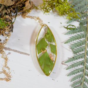 Maidenhair Fern Ellipse Necklace