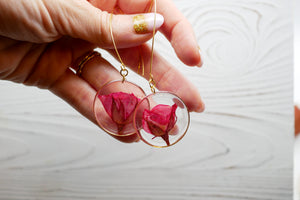 Large Rose Statement Earrings