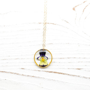 Dainty Pansy Necklace