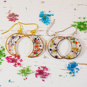 Flower Moon dangle Earrings
