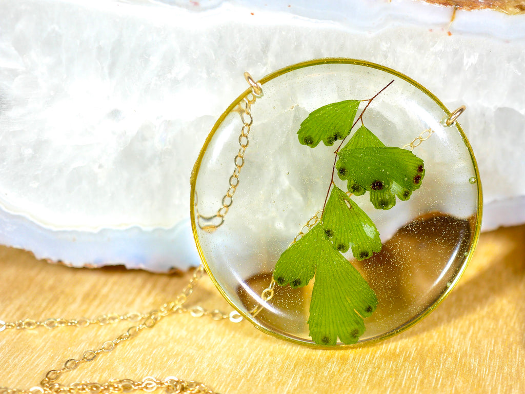 Maidenhair fern Statement Necklace