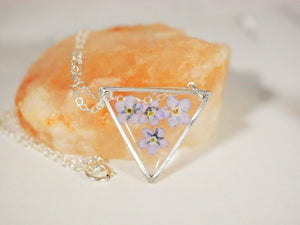 Forget me not Triangle Necklace