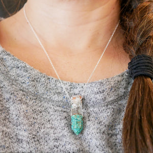 Crushed Sleeping beauty turquoise crystal