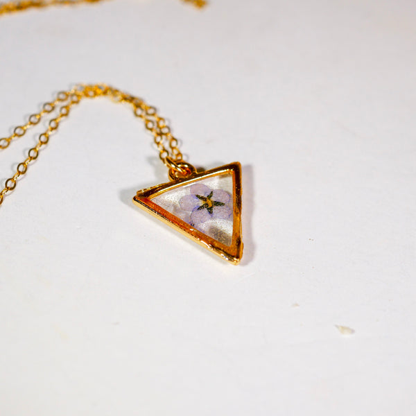 Tiny forget me not Triangle