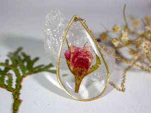 Rose Teardrop Necklace