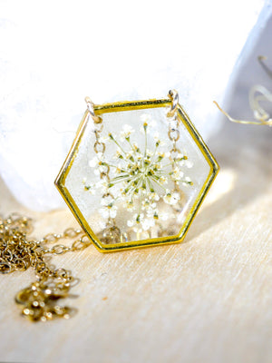White Queen Annes Lace Hexagon