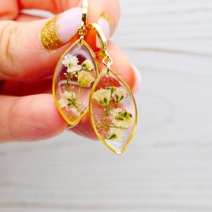 Baby's Breath Huggie hoop Earrings
