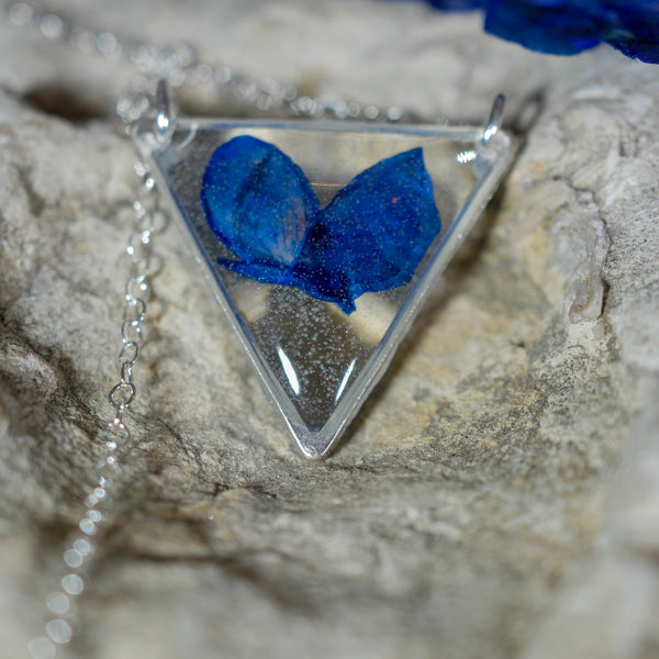 Bluebonnet Triangle Necklace