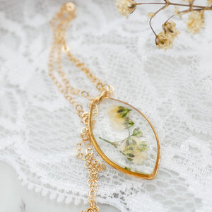 Baby's Breath Marquise Necklace