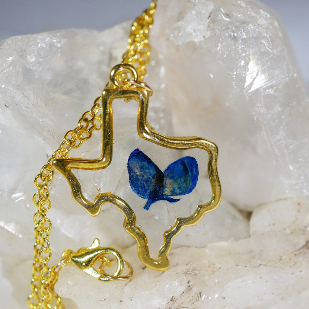 Texas Bluebonnet necklace