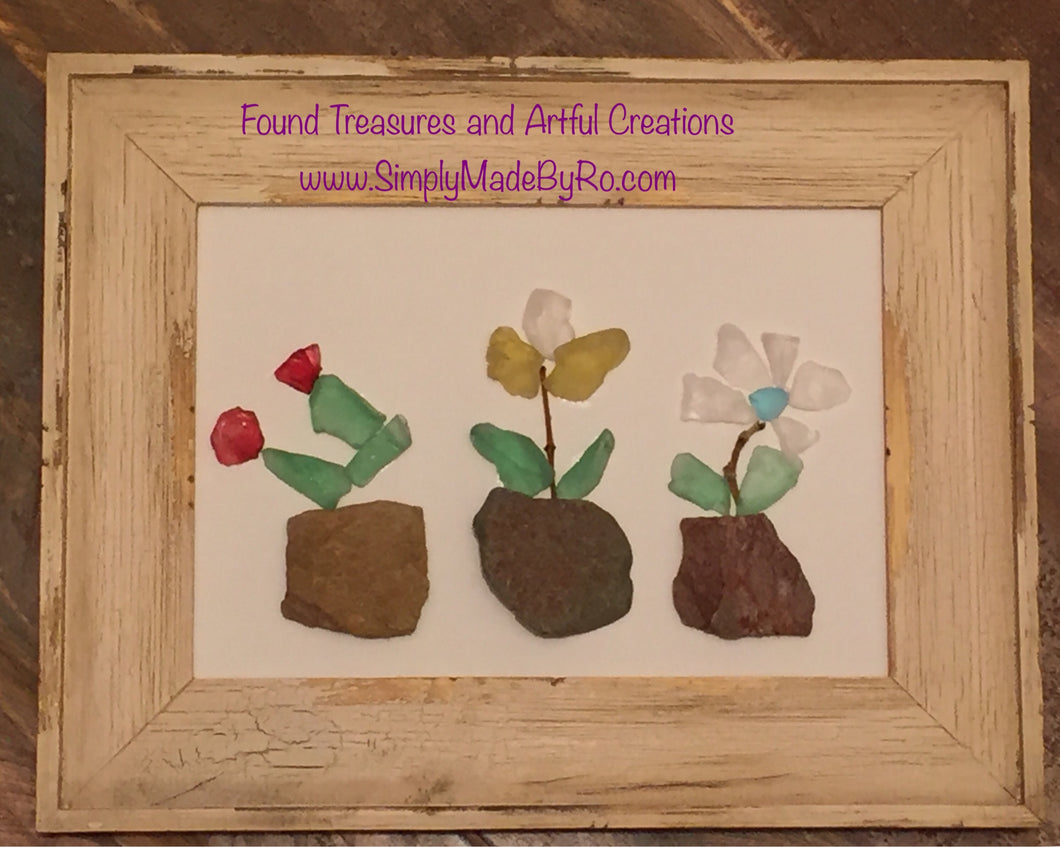 Potted Stained Glass Flowers *made to order artwork*