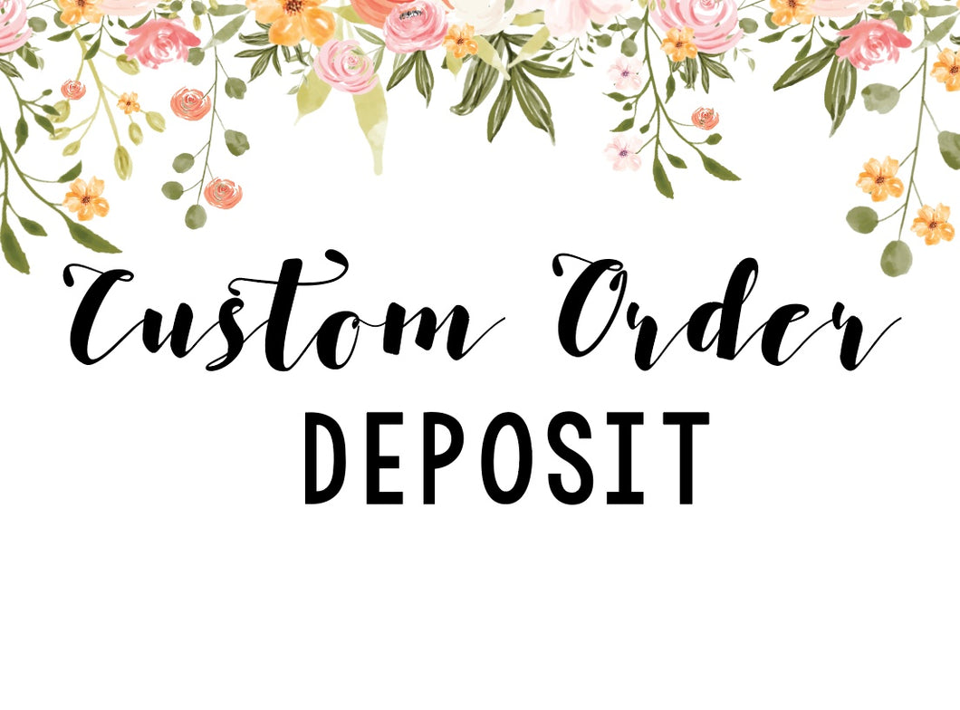 A custom order design & layout fee for artworks not yet created