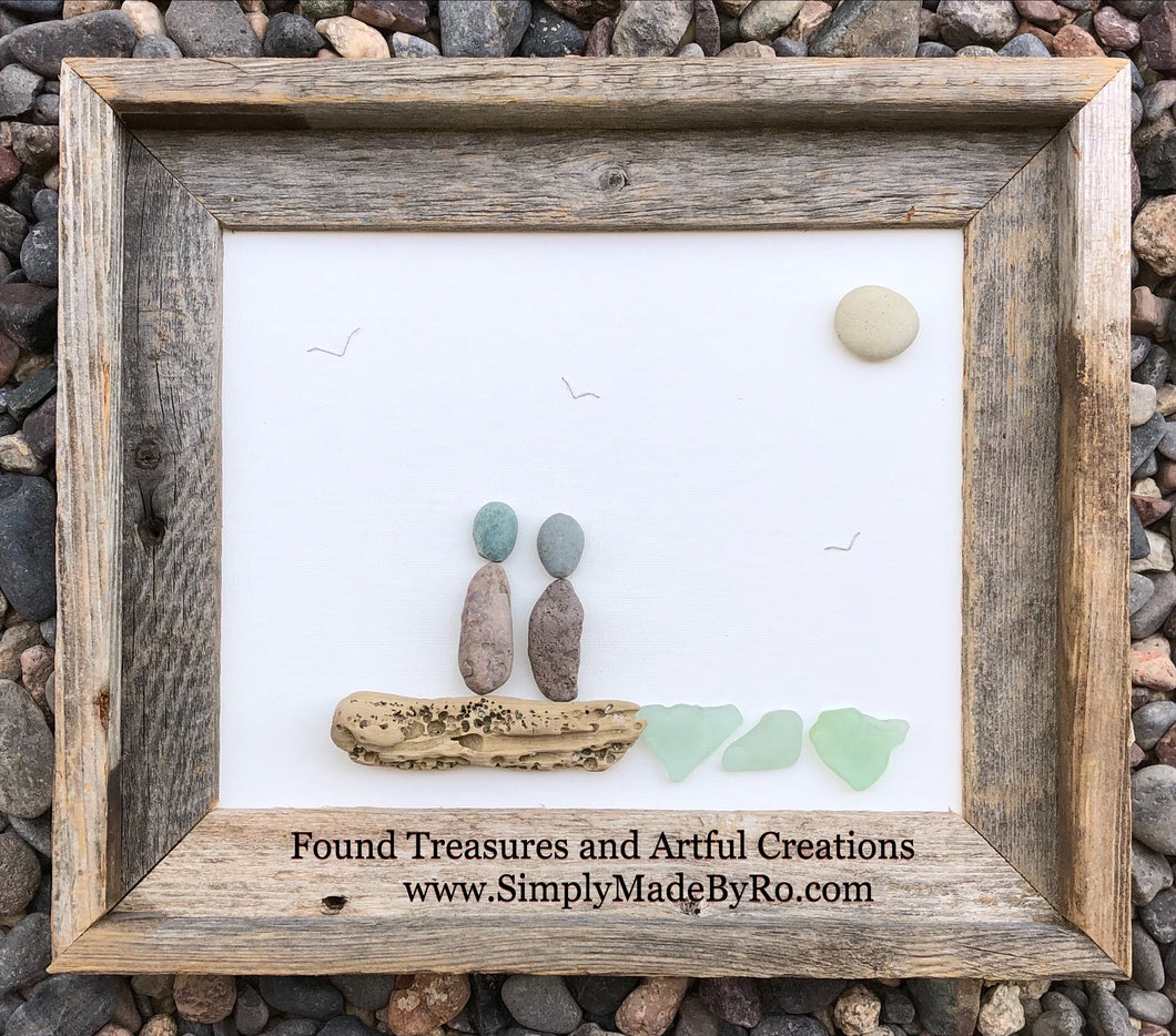 At the Shoreline (rustic frame)