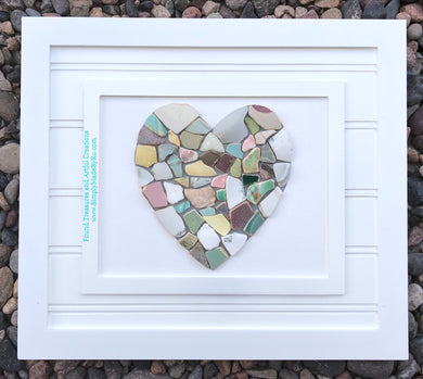 Sea Heart 8x10 shiplap style frame *made to order*