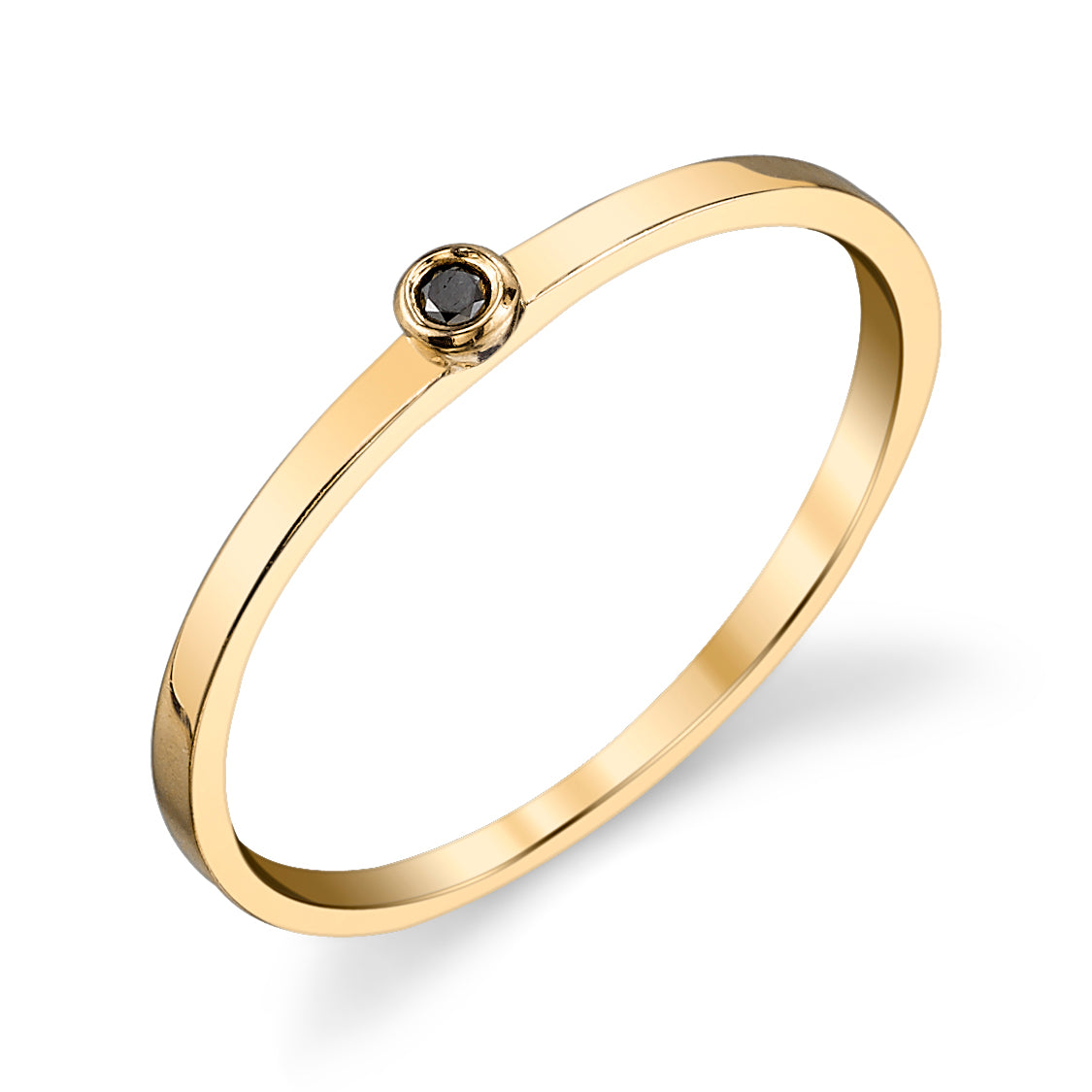 Single Black Diamond Ring - Gabriela Artigas