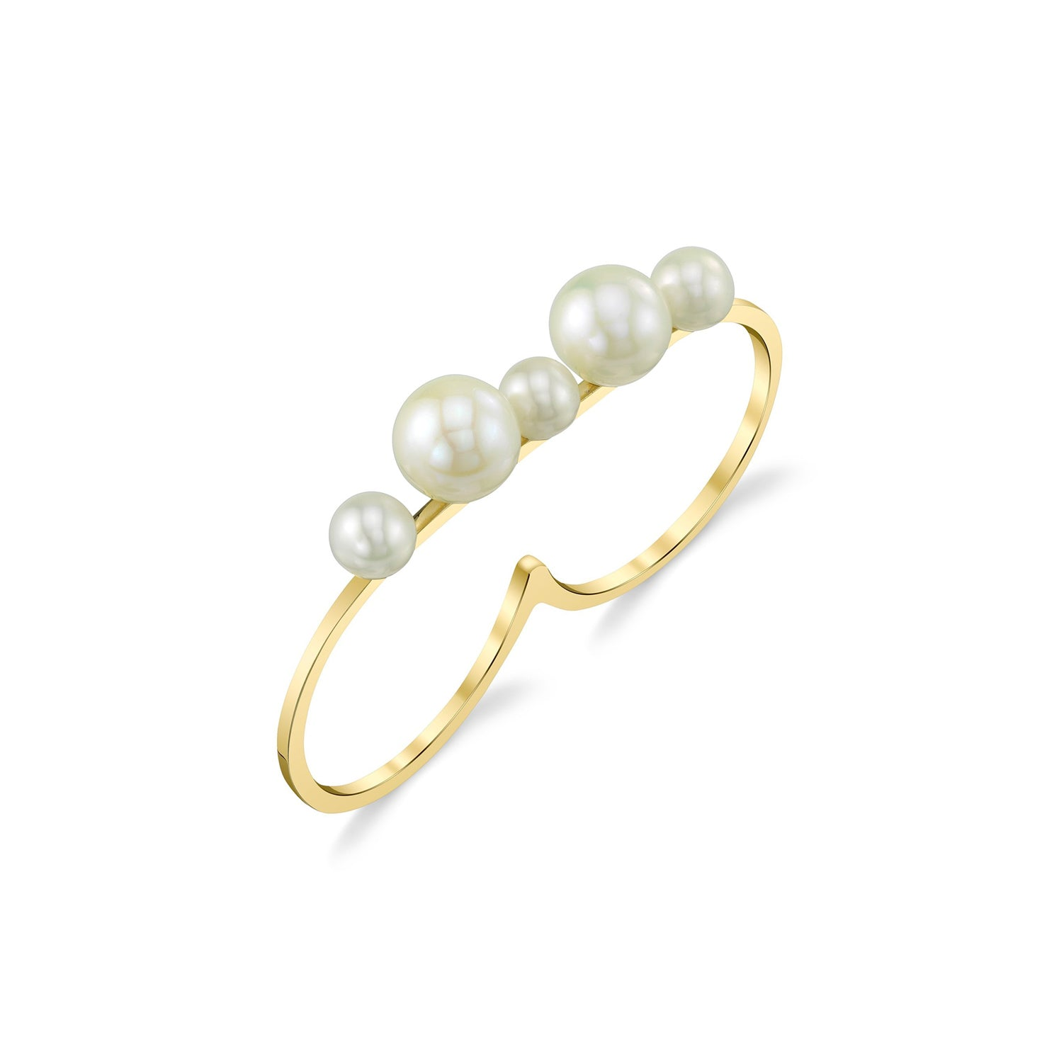 Cosmos Double Finger Ring - Gabriela Artigas