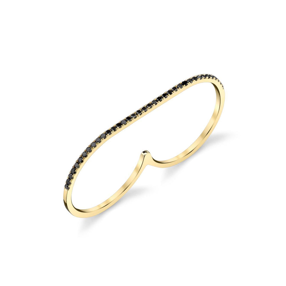 Infinite Staple Ring With Black Pavé Diamonds - Gabriela Artigas