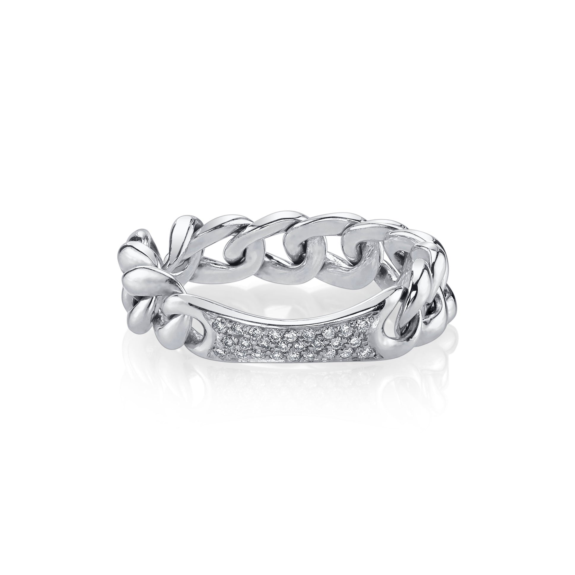 Chain Ring With White Pavé