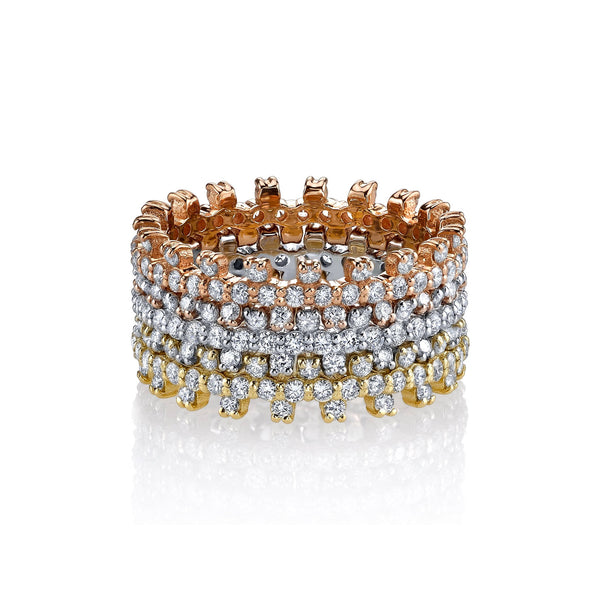 Bolt Ring with Pave Diamonds