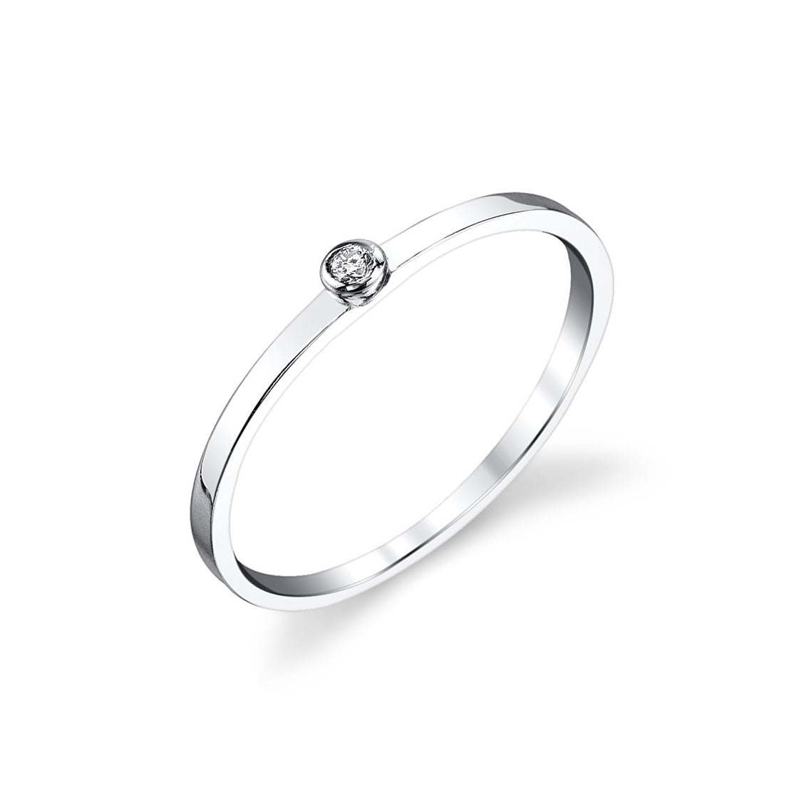 Single White Diamond Ring