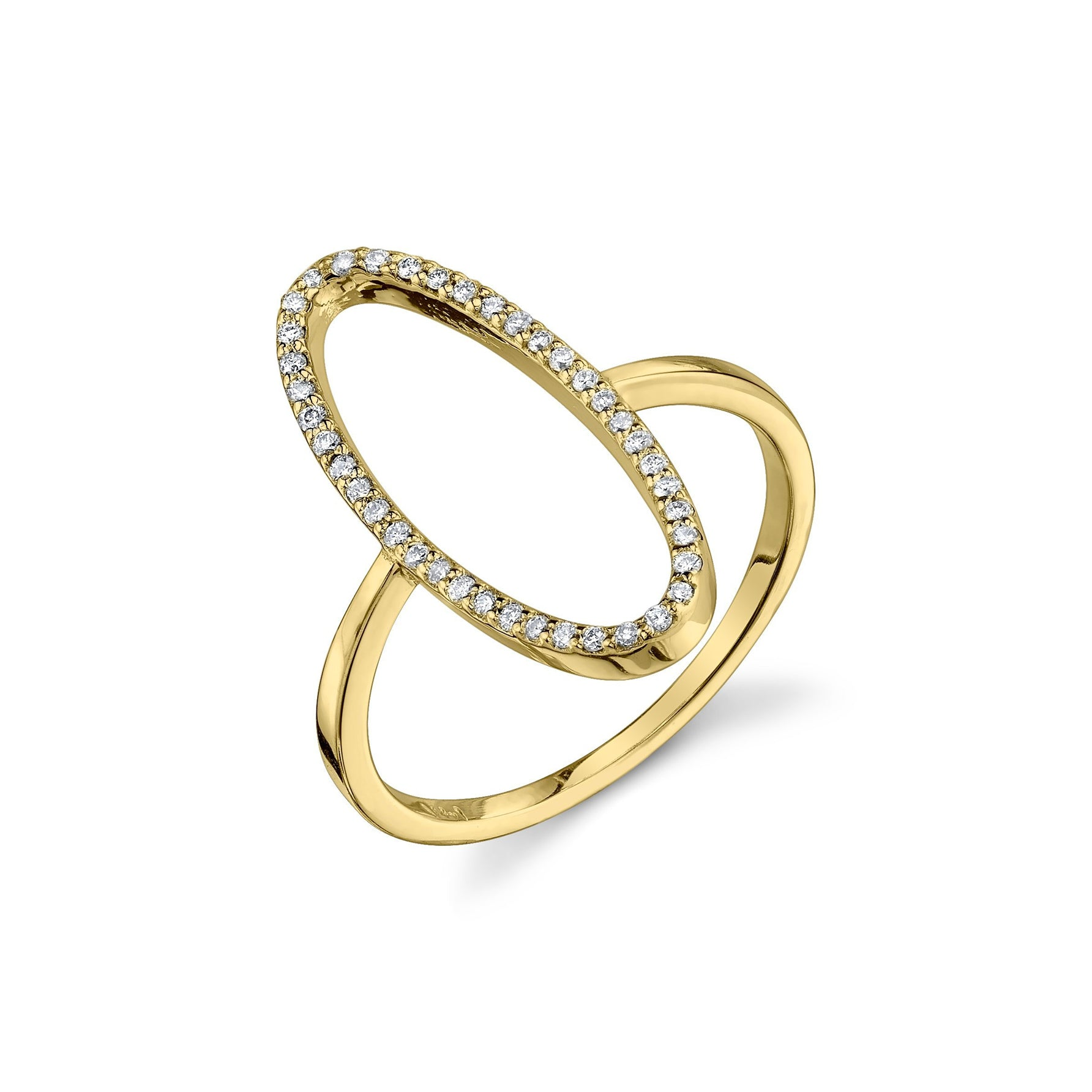 Convex Ring With White Pavé Diamonds - Gabriela Artigas
