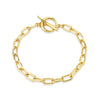 Baby Rectangular Chain Bracelet With Tusk Clasp - Gabriela Artigas