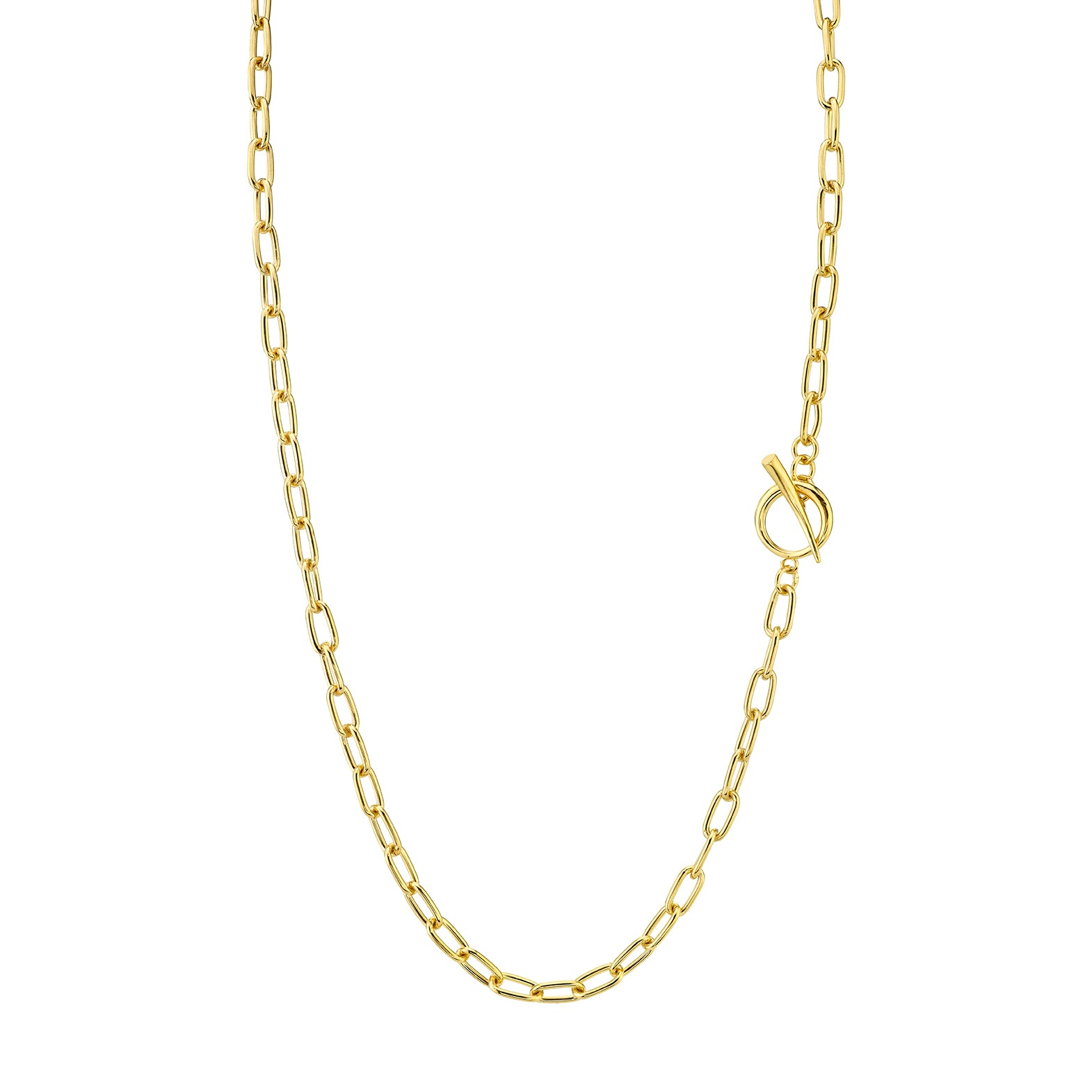 Baby Rectangular Link Chain Necklace With Tusk Clasp - Gabriela Artigas