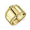 Cigar Band Ring With Double Line Pavé