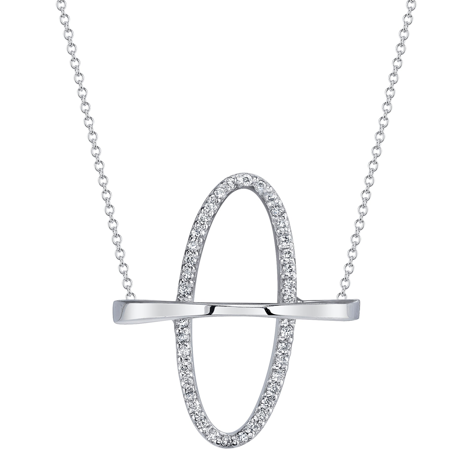 Arch Boreal Necklace With White Pavé Diamonds - Gabriela Artigas