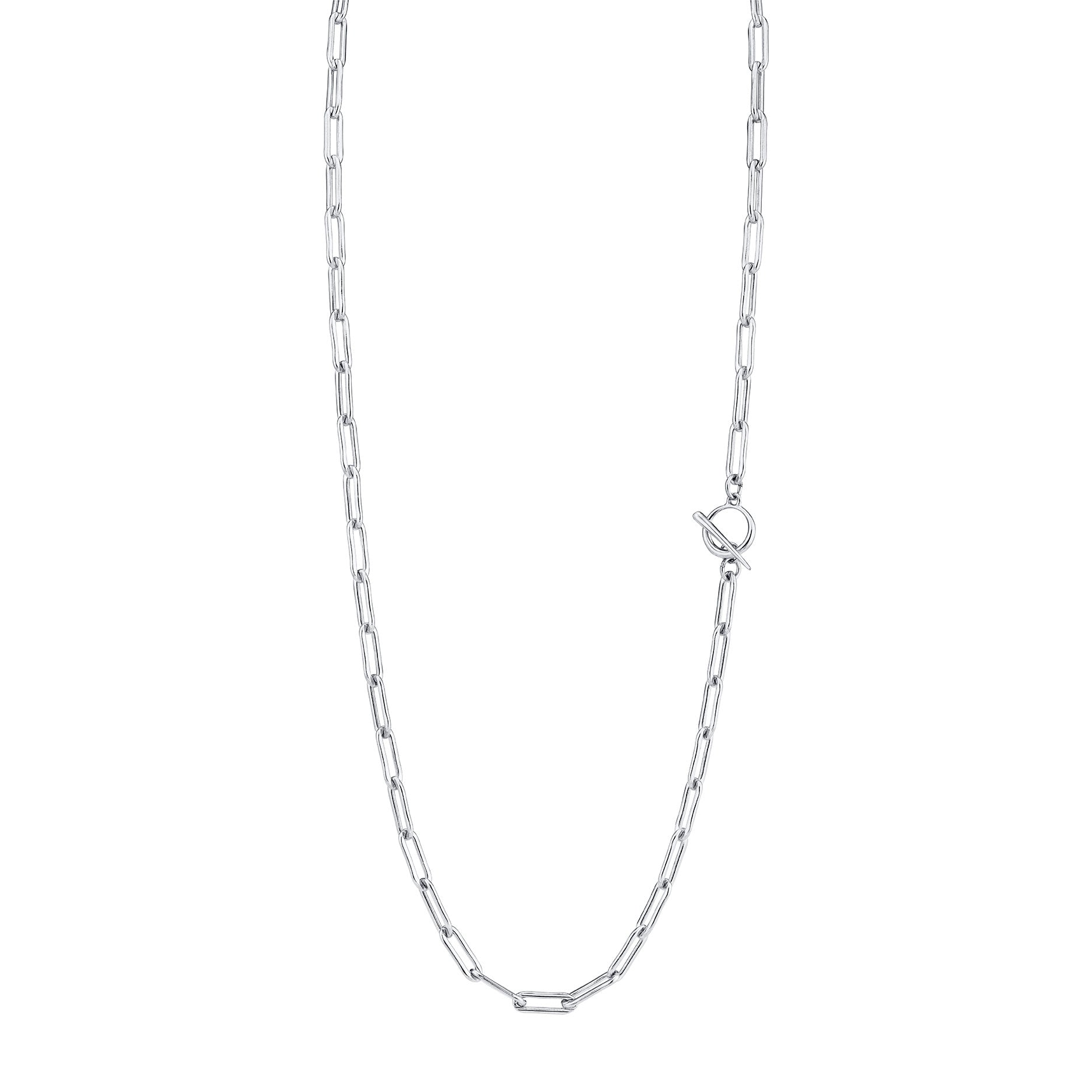 Rectangular Link Chain Necklace With Tusk Clasp - Gabriela Artigas