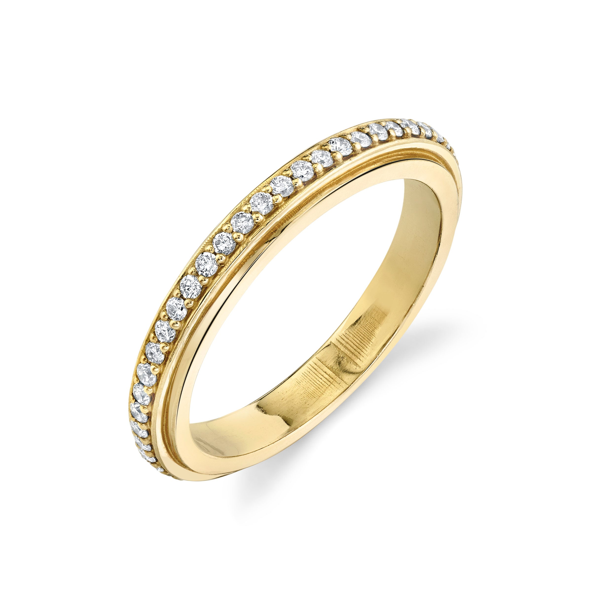 Track Ring with Pavé White Diamonds - Gabriela Artigas