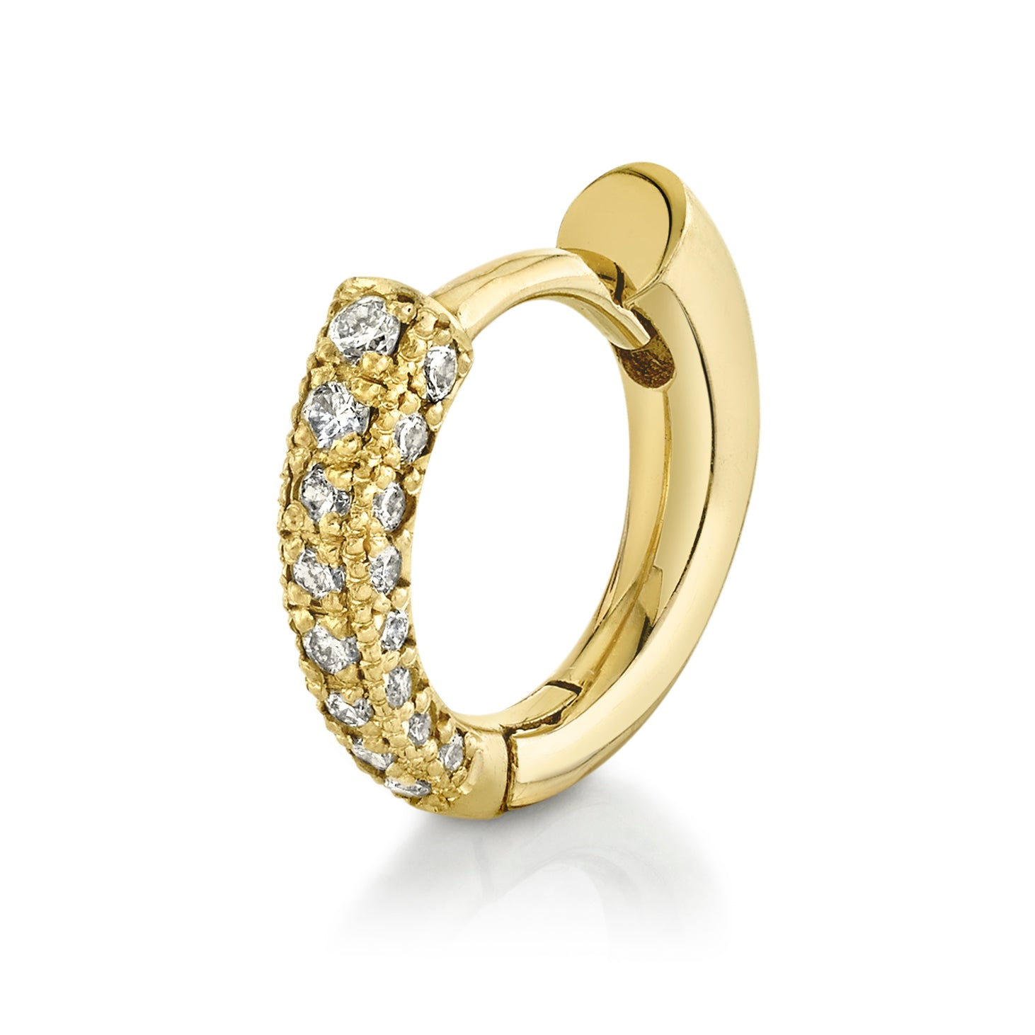 Colmillo Huggie Front White Pavé Diamonds - Gabriela Artigas