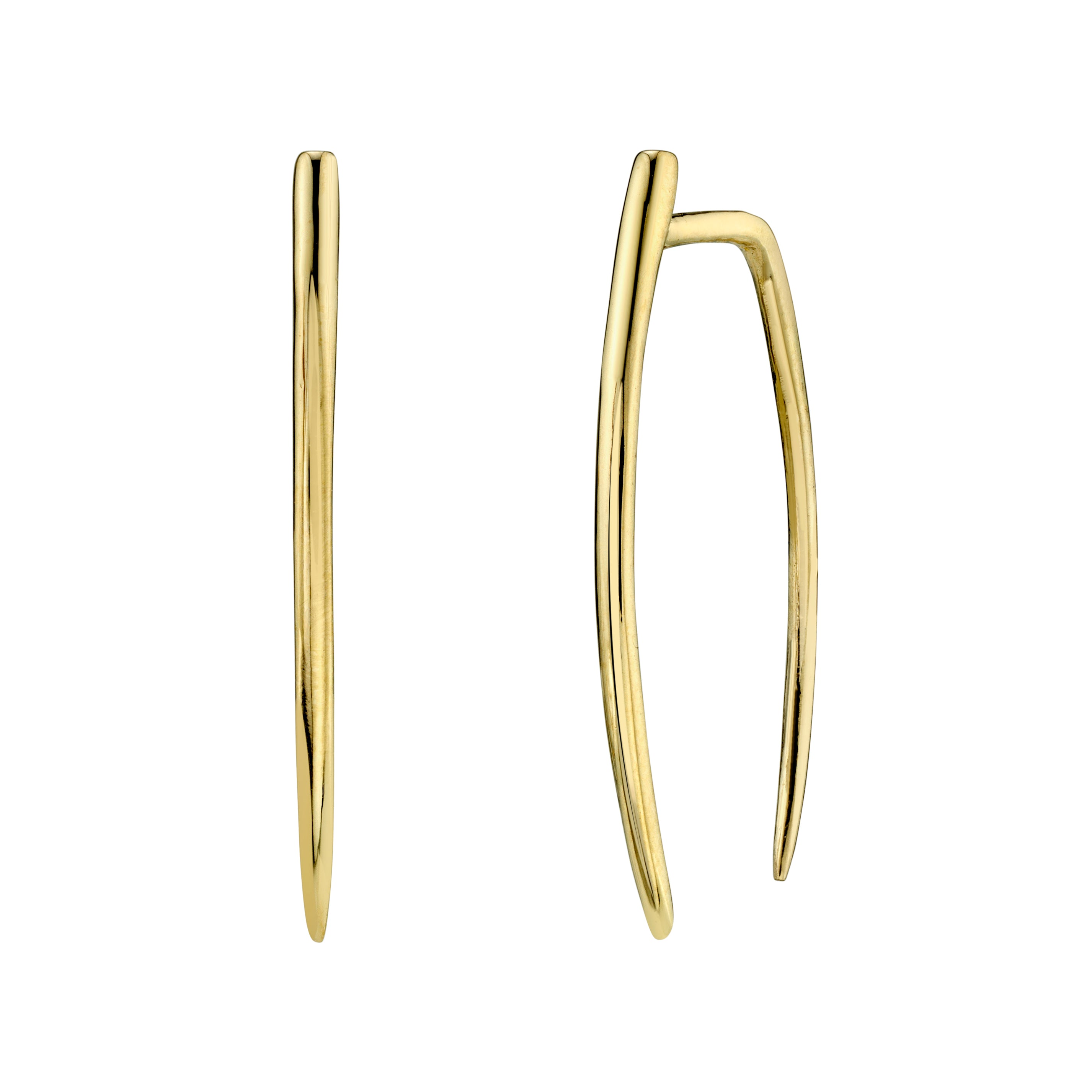 Large Classic Infinite Tusk Earrings