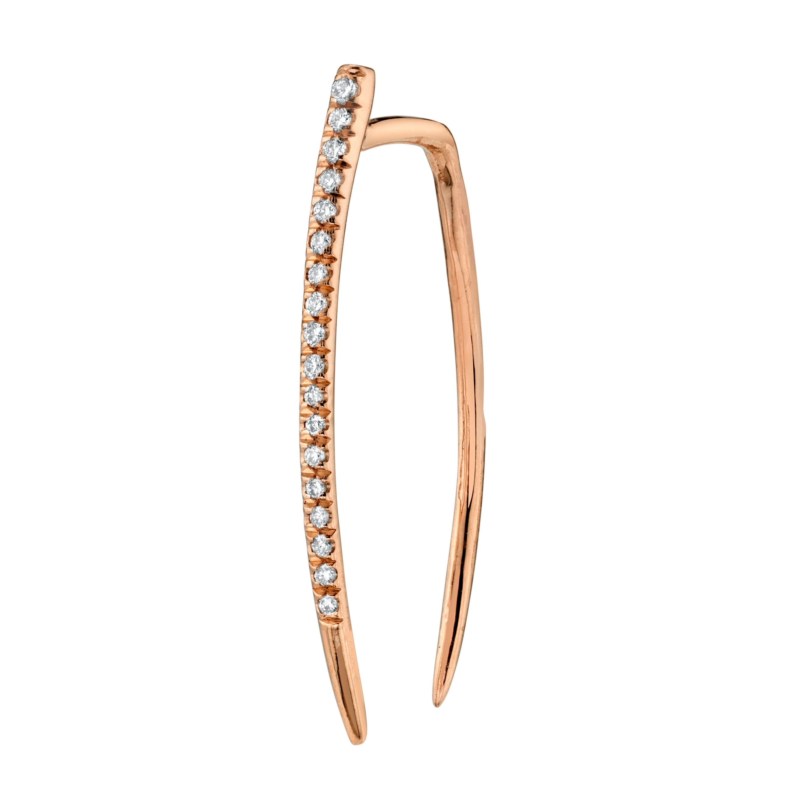 Large Classic Infinite Tusk Earring With White Pavé Diamonds - Gabriela Artigas