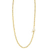 Rectangular Link Chain Necklace With Pavé Tusk Clasp - Gabriela Artigas