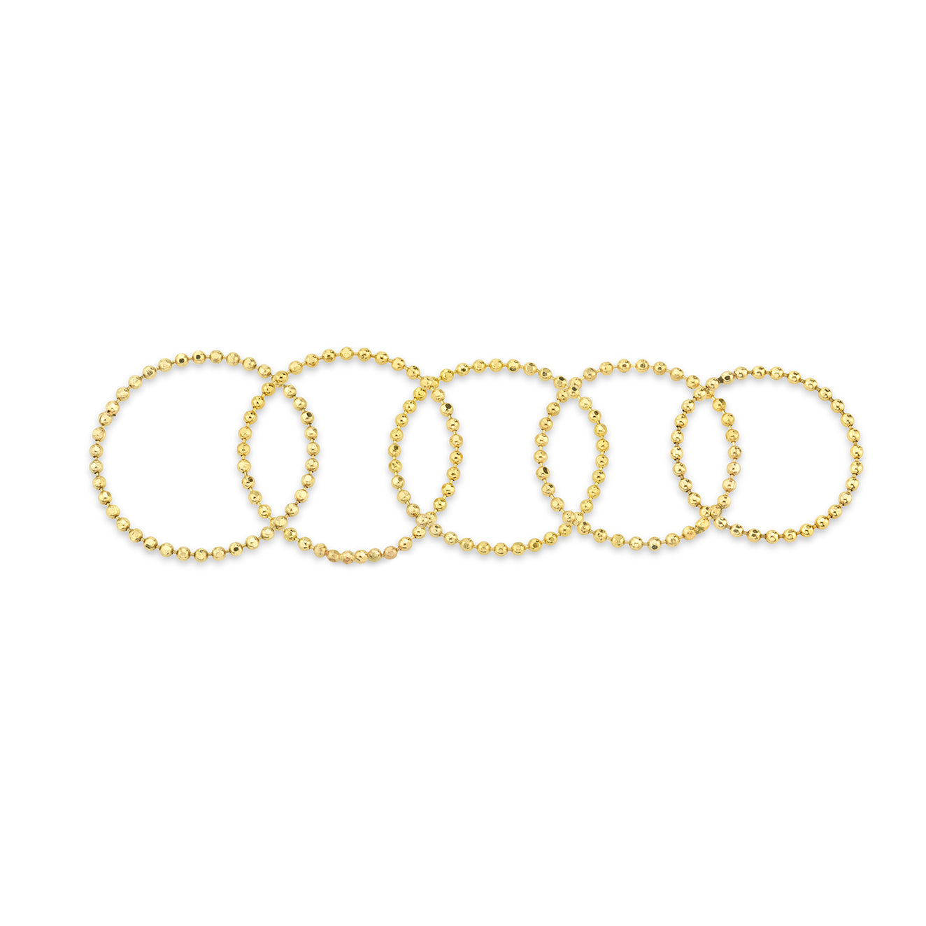 Set of 5 Soft Ball Chain Rings - Gabriela Artigas