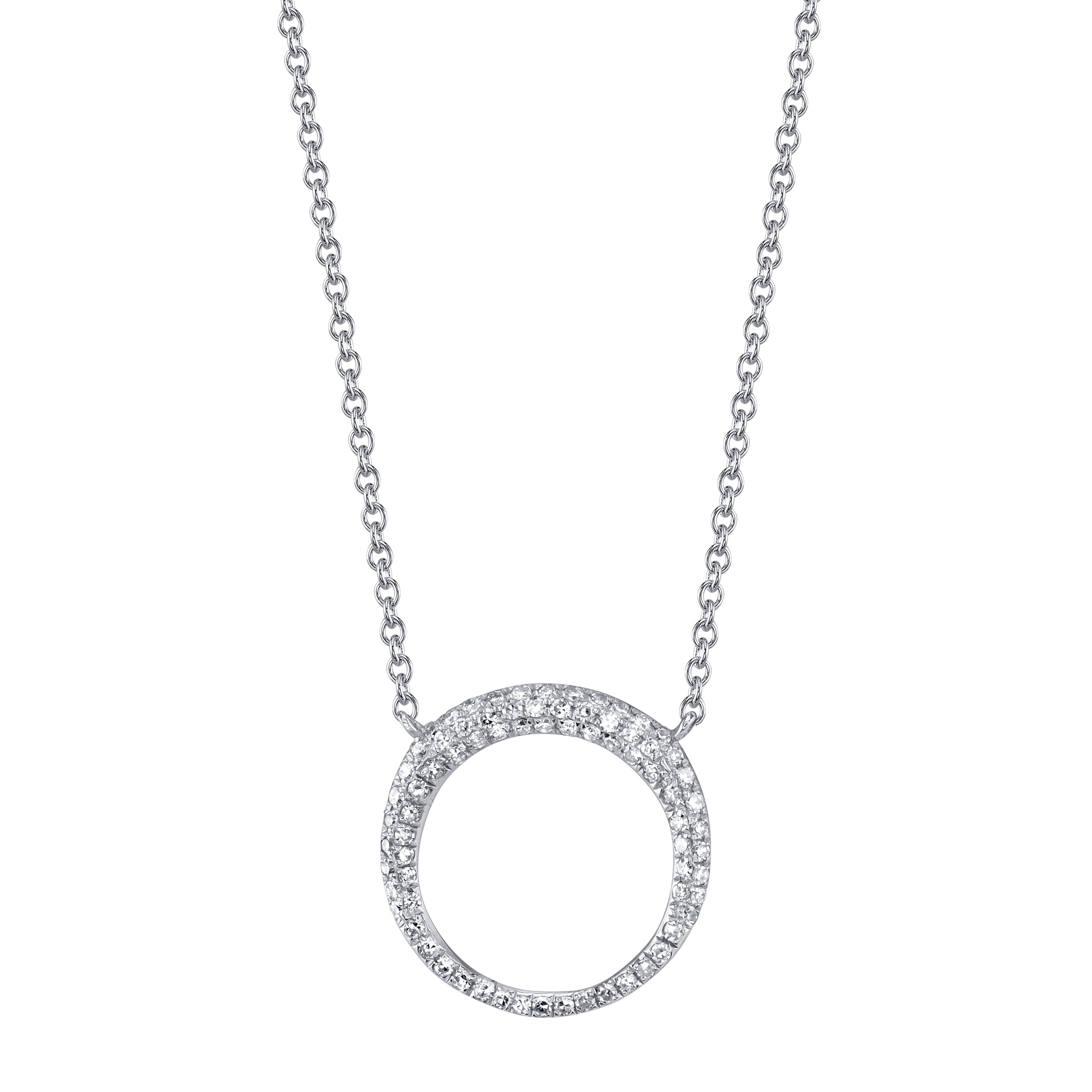 Small Balloon Necklace With White Pavé Diamonds - Gabriela Artigas
