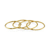 Set of 4 Subtle Rings - Gabriela Artigas