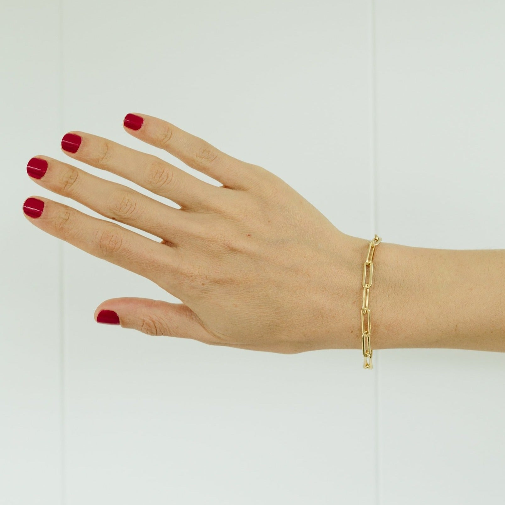 Rectangular Link Chain Bracelet With Tusk Clasp - Gabriela Artigas
