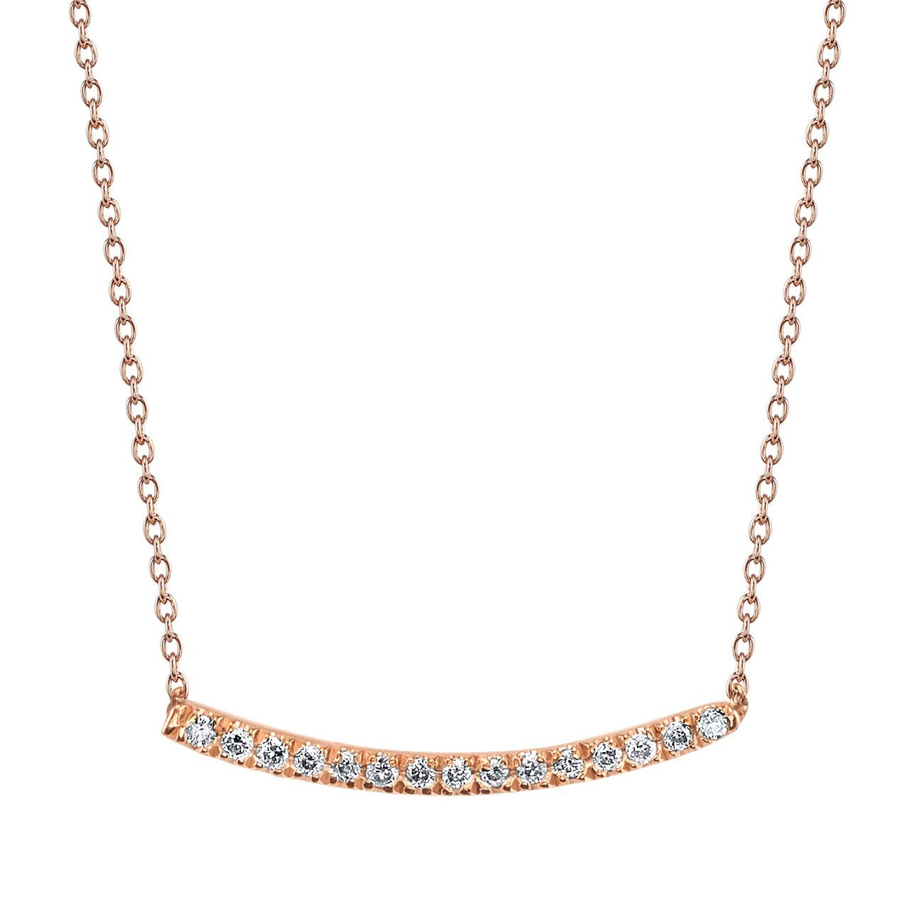 Gabriela Artigas Axis Necklace with White Pavé