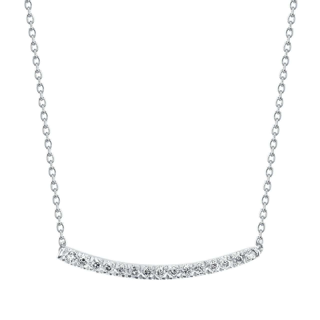 Axis Necklace With White Pavé Diamonds - Gabriela Artigas