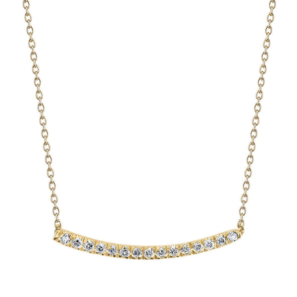 Axis Necklace with White Pavé