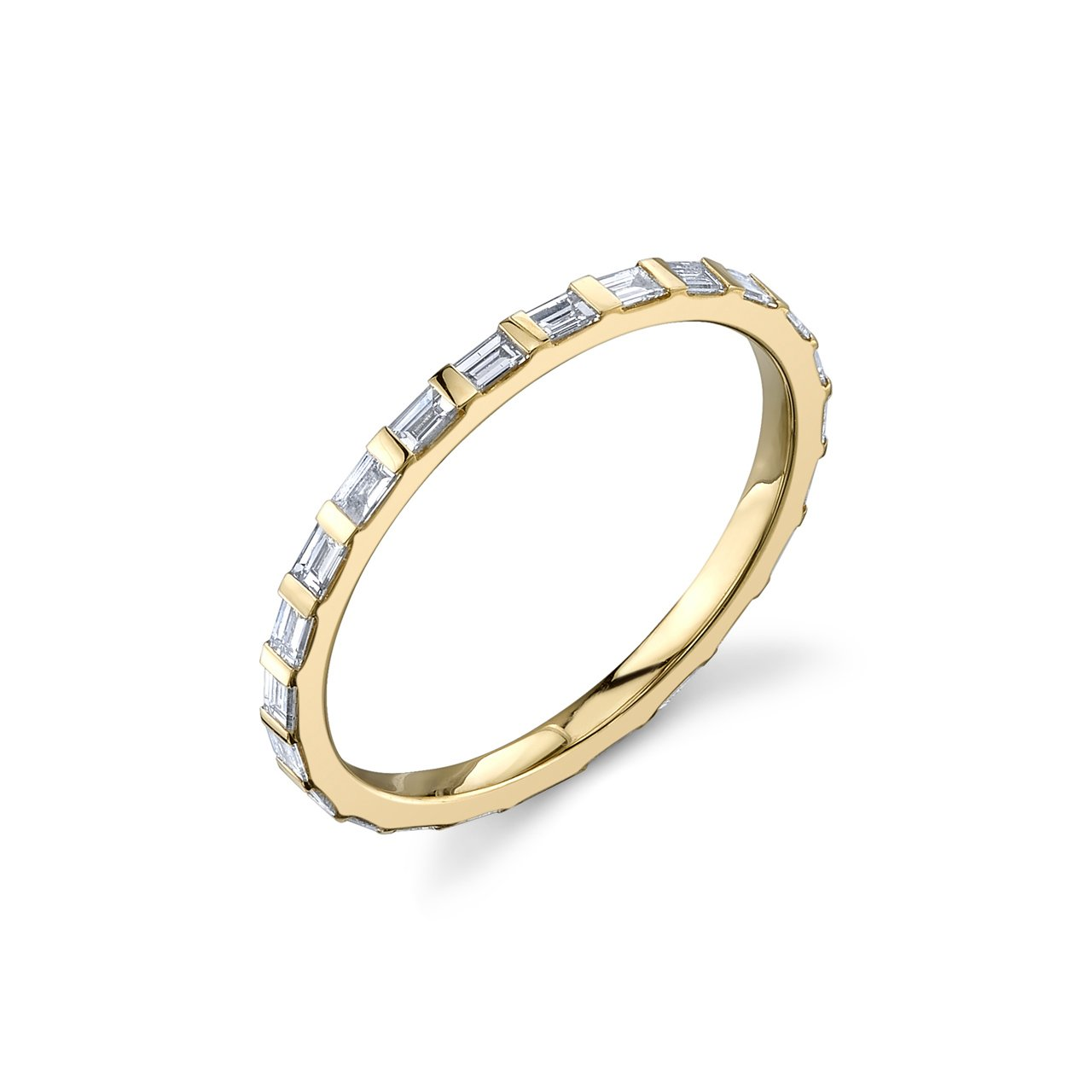 Gabriela Artigas Baguette Axis Ring with White Diamonds
