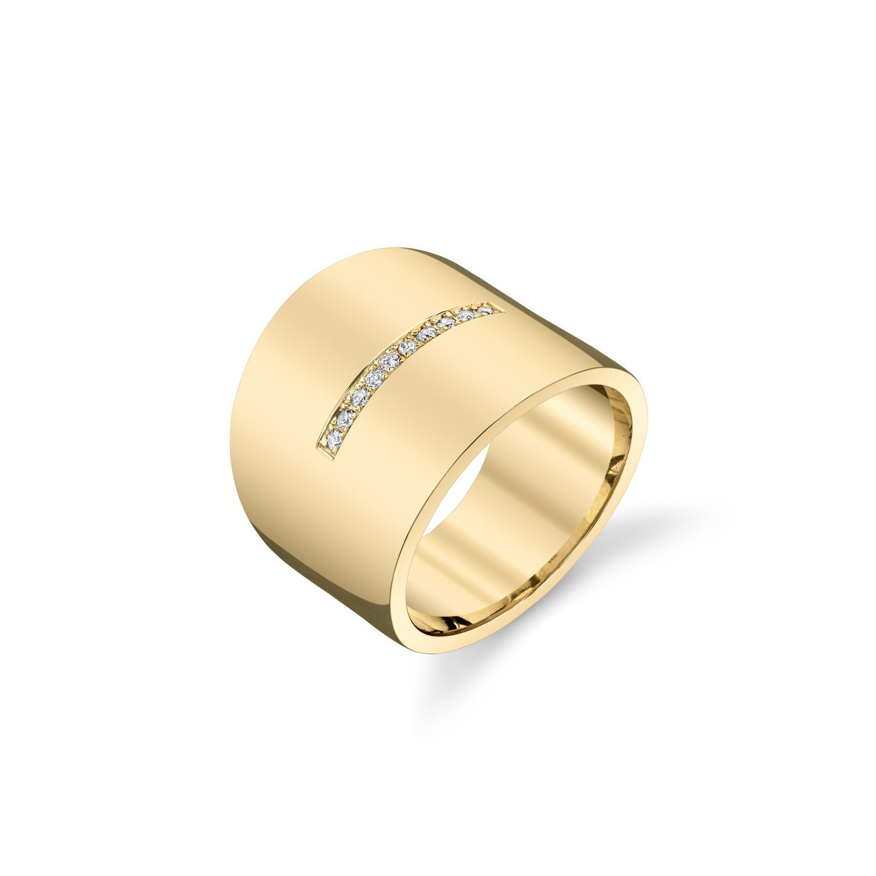 Gabriela Artigas Cigar Band Ring with Pave Diamonds