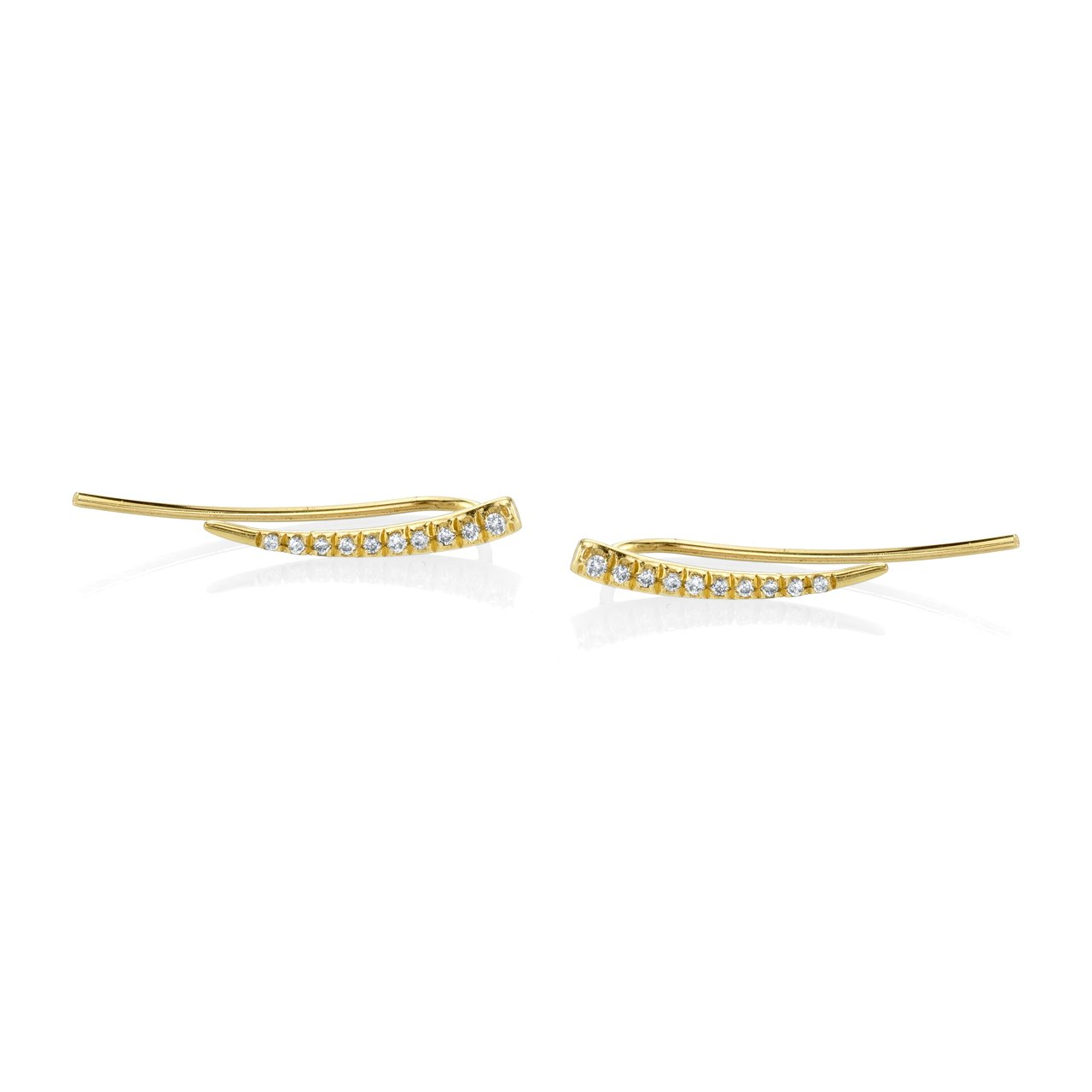 Gabriela Artigas Crawling Tusk Earrings with White Pave Diamonds(Pair)