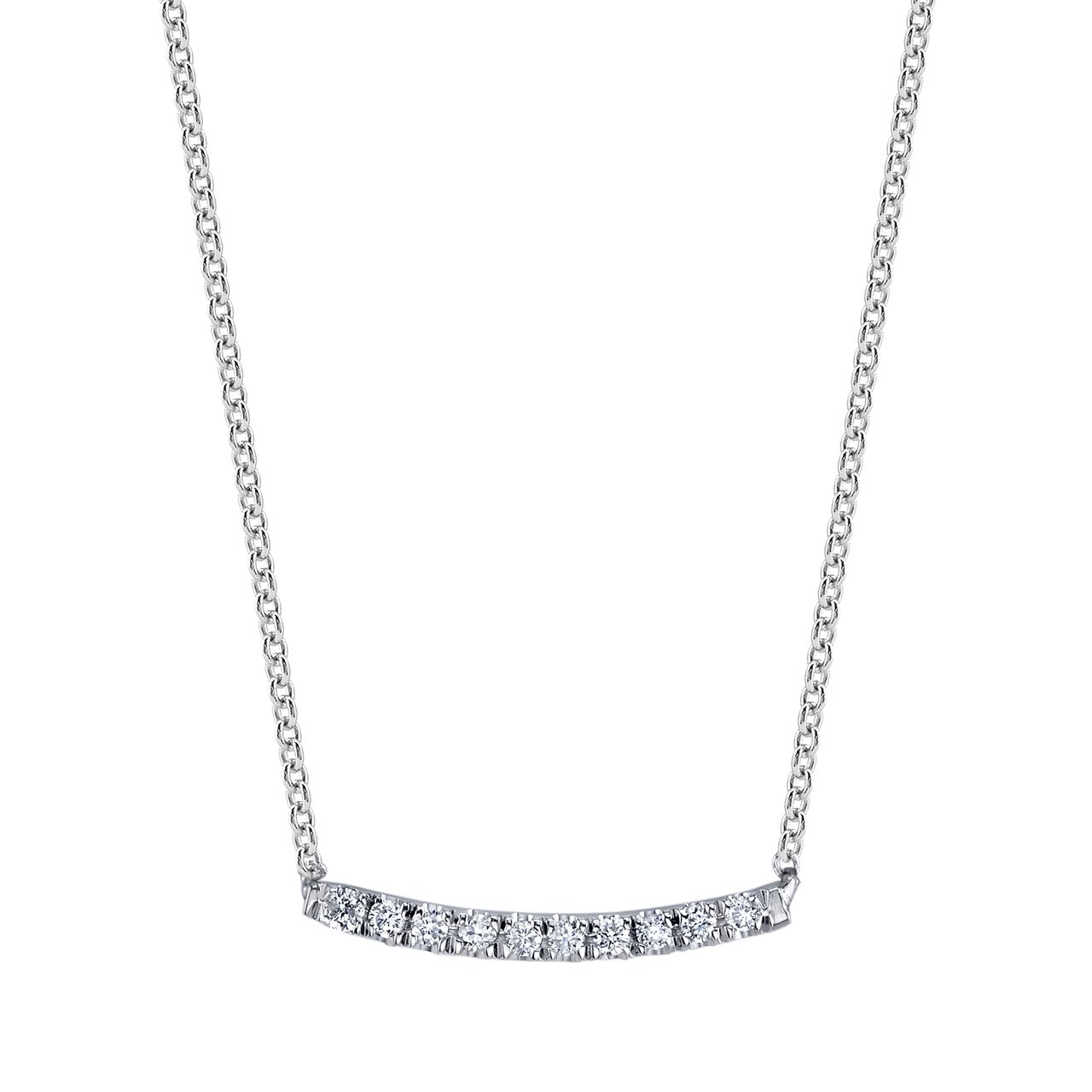Mini Axis Necklace With White Pavé - Gabriela Artigas